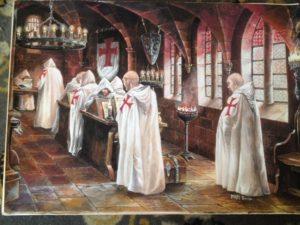Les Templiers - peinture de Nan Emile
