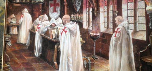 Les Templiers - Les peinture sont de Nan Emile