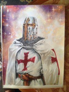 Chevaliers de l'Ordre du Temple - Les peintures sont de Nan Émile