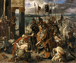 Les Croisés dans Constantinople