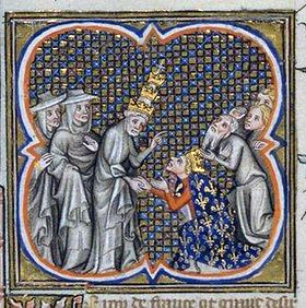 Louis IX et le pape Innocent IV