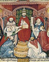 Clément V sur son trône