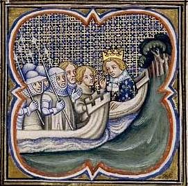 Départ de Louis IX pour la 8ème Croisade