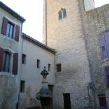 Tour Ferrande et fontaine du Gigot