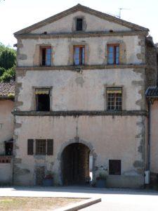 Façade arrière de la porte d'entrée fortifiée