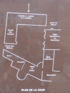 Plan de la cour de l'église