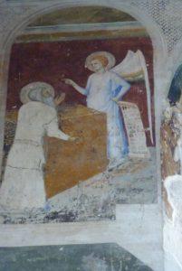 La chapelle des fresques-Apparition de l'ange à Zacharie
