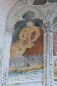 La chapelle des fresques-Jean Baptiste dans les eaux du Jourdain.