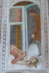 La chapelle des fresques-La Décollation de Jean-Baptiste.