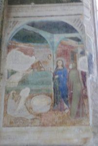 La chapelle des fresques-Naissance de Jean-Baptiste