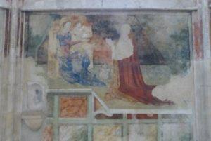 La chapelle des fresques de Notre Dame de la Bénédiction- Innocent VI adorant la Vierge