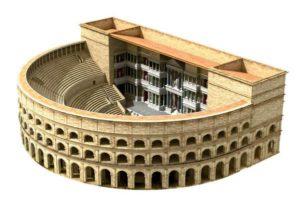 Maquette du théâtre antique d'Arles