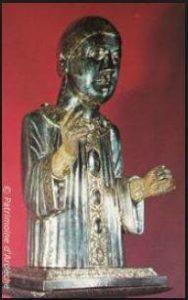 Buste reliquaire de saint Chaffre plaqué d'argent, Xème - XIIème siècles