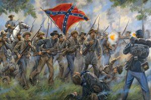 Assaut des troupes confédérées à Méchanicsville