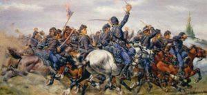 """5 ème """"Cavalry Regulier"""" à la bataille des Sept Jours"""
