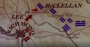 Plan de la bataille des Sept Jours