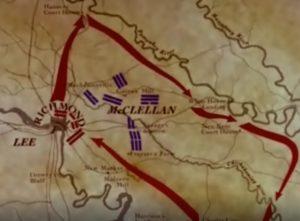 Plan de la bataille - virée de Jeb Stuart